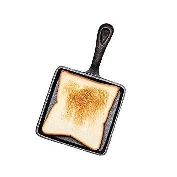 Mini Cast Iron Skillet sartén de hierro, sartén antiadherente Grill hierro fundido sartenes (hierro fundido - cocinas (14 cm): Amazon.es: Hogar