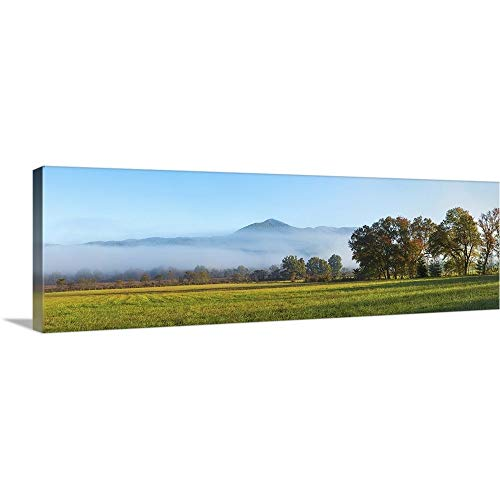 GREATBIGCANVAS Gallery-Wrapped Canvas Entitled Fog Over Mountain, Cades Cove, Great Smoky Mountains National Park, Tennessee by 36