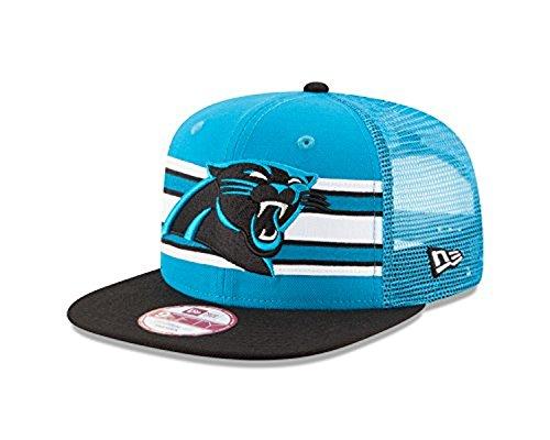 New Era NFL Carolina Panthers Throwback Stripe 9FIFTY Snapback Cap, One Size, Blue