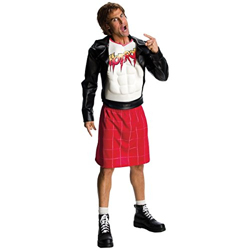 WWE Adult Rowdy Roddy Piper Costume, Black/Red, X-Large -