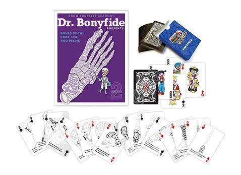 Dr Bonyfide Presents Bones of The Foot, Leg and Pelvis & Know Your Bones: Card Deck Bundle