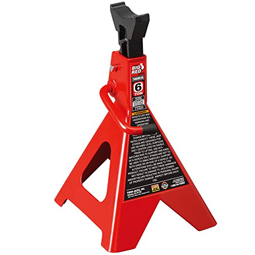 Torin Big Red Steel Jack Stands: Double Locking, 6 Ton Capacity, 1 - Torin Stands Jack