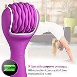 ALOFA-Massaggiatore-Portatile-Wireless-10-modalit-Massaggio-a-rotazione-Ricaricabile-impermeabile-Personale-Massaggi-per-Massaggi-Rilassanti-e-per-Alleviare-la-Tensione-Muscolare-viola