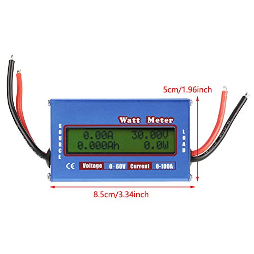 Akozon 0-100A 0-60V High Precision DC Power Analyser Watt Volt Amp Energy  Meter Analyzer Tool