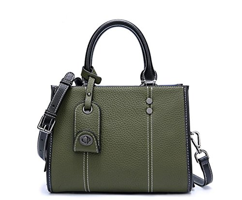 Tote Bag Women Leather Shoulder Bag Handbag Fashion Tote Bag Crossbody Bag Of Green Leather