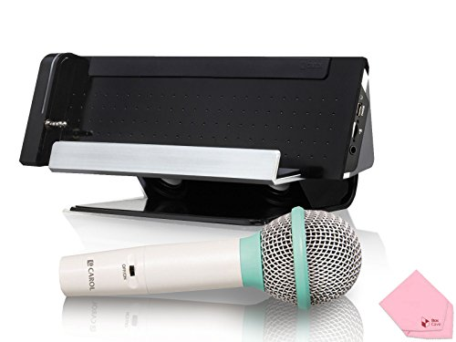 CAROL iAS-102 Mobile Karaoke Dock with Dynamic Microphone (Come W/ BoxCave Microfiber Cleaning Cloth) =Made in Taiwan= by CAROL