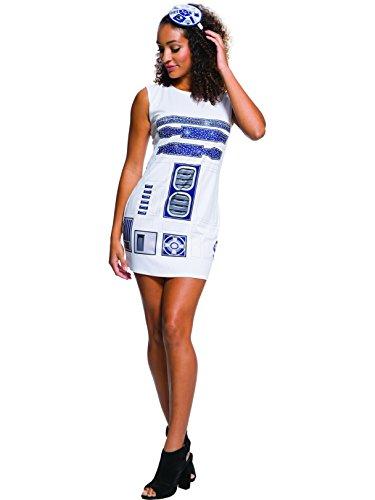 Rubie's Adult Star Wars R2-D2 Rhinestone Costume Dress Set, Large