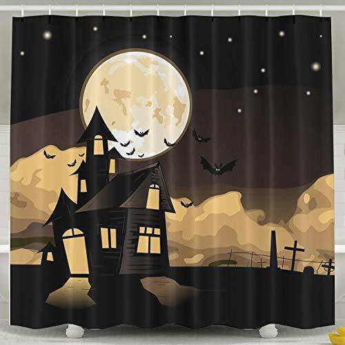 Silinana Happy Halloween Background 6072 Inch Bathroom Shower