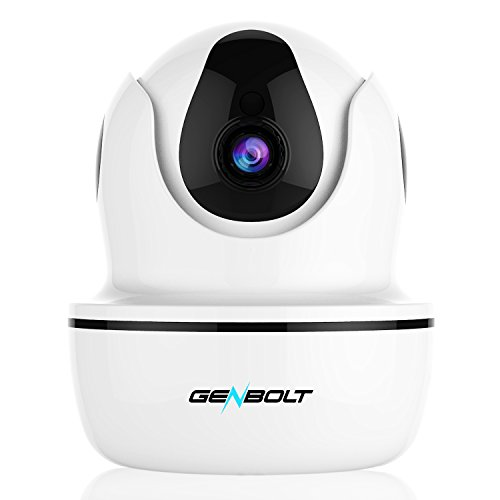 1080P Wireless IP Security Camera - GENBOLT WiFi HD CCTV Pan Tilt Spy Camera indoor for Home Surveillance, Two Way Audio Motion Detection Remote Webcam, Dog Cam, Baby Monitor by GENBOLT