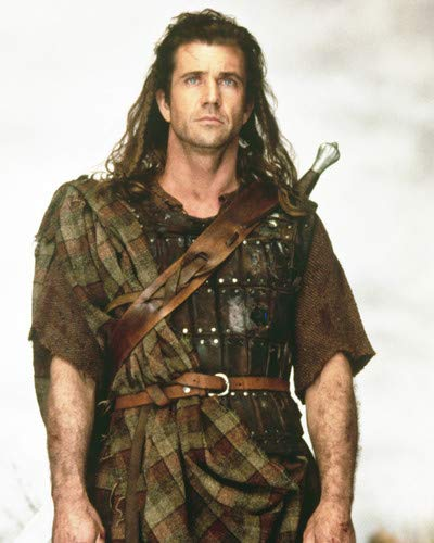 Mel Gibson in Braveheart Iconic portrait in Scottish costume 8x10 Promotional -