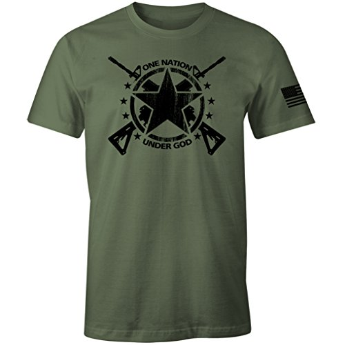 - USA Army Patriotic Military Infantry Physical Training T Shirt (Military Green, L)