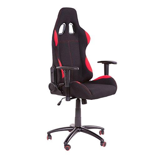 Bürostuhl Racing Gamer Schreibtischstuhl Stoff Gaiming Schalensitz Chair XC