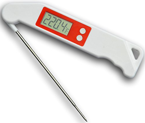 Digital meat thermometer for BBQs, grilling, broiling