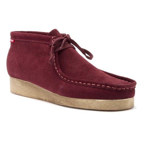 Clarks Padmore Boots Rood Suede Casual Schoenen 30502 Heren