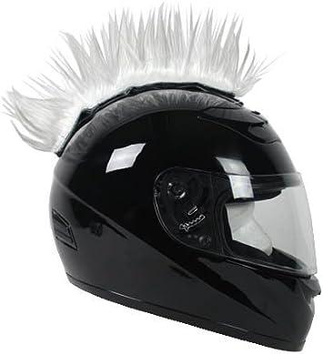 PC Racing Helmet Mohawk Street Bike Dirt Bike YELLOW