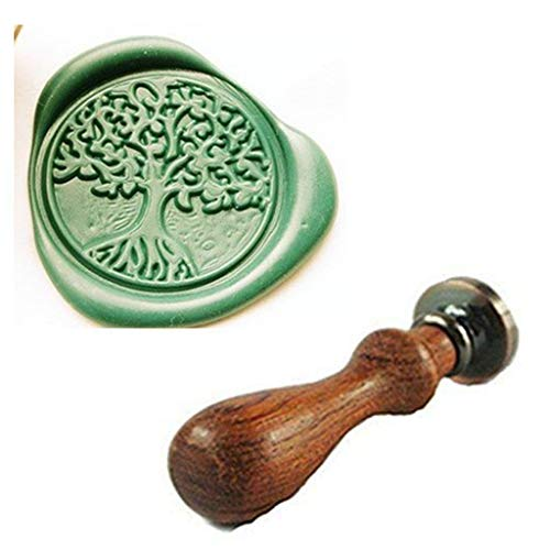 MDLG Vintage Tree Of Life Custom Picture Wedding Invitation Wax Seal Sealing Stamp Handle Set -