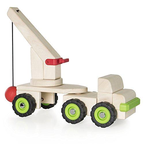 Guidecraft Big Block Wrecking Ball Truck, Wooden Toy Teaches Pendulums