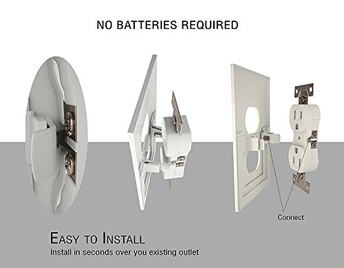 Outlet Wall Plate with LED Night Lights by Marquee Innovations | 4 Pack | No Wires or Battery Needed – Fast Install | Duplex, White by Marquee Innovations (Image #7)