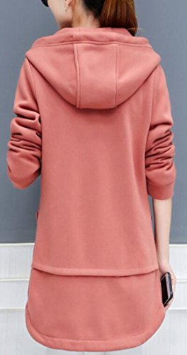 Hoodies today 2 Winter Sweatshirt Lined Long Jacket Sleeve UK Womens Fleece rXr6q
