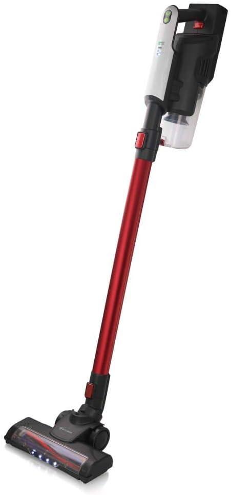 emerio Aspirador Sin Cable, Blanco/Rojo, 120 cm