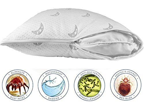 Sleep Stature Pillow Protector Cover ❤️ Dust Mite and Bed Bug Control ❤️ Waterproof Zippered Pillow Encasement ❤️ Hypoallergenic ❤️Ultra-Premium Luxury ❤️ (Standard / 20