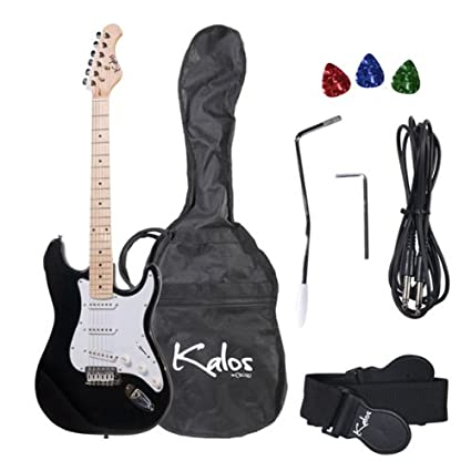 Amazon.com: Kalos 1EG Guitarra eléctrica de 39 ...