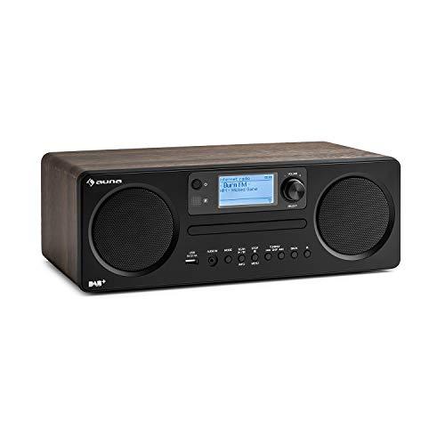 auna Worldwide CD – internetradio, met Bluetooth, DAB/DAB +, MP3-compatibele USB-poort, met CD-speler, Spotify Connect…