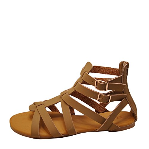 Sandalo Gladiatoor Donna Bamboo Dino 99s Open Toe Naturale