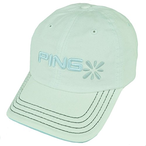 Relaxed Golf Cap (PING Golf Equipment White Women Relaxed Slouch Ladies Velcro Cap)