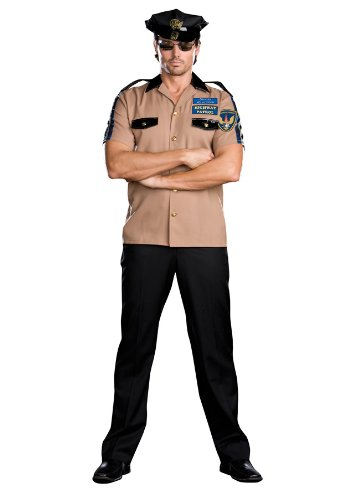 [Men's Highway Patrol Officer Willy R (As Shown;Men's 2X)] (Highway Patrol Costume)