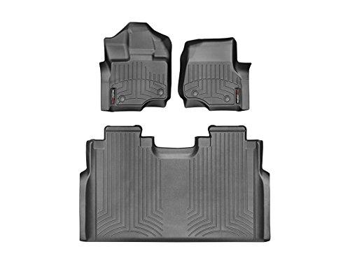 WeatherTech Custom Fit FloorLiner for Ford F-150-1st & 2nd Row (Black)