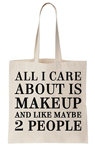 All Maybe People And I Bag Like Canvas Care About Is Tote 2 Makeup rgrWFZac