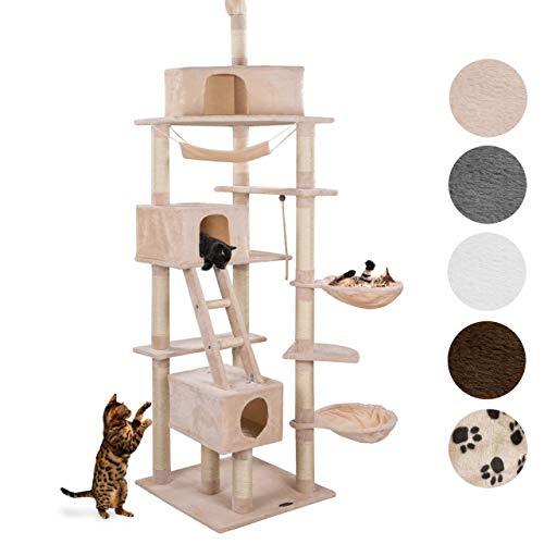 Happypet® Kratzbaum Grosse Katzen stabil deckenhoch (CAT015-4) 230-260 cm, XXL Katzenbaum Maine Coon, Kletterbaum mit…
