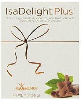 Isagenix IsaDelight Milk Chocolate with Sea Salt and Caramel flavor,0.4 oz(30ct) by Isagenix