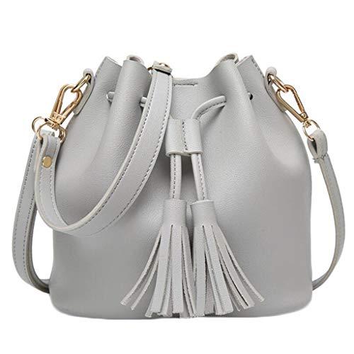 nappe taglia unica tracolla Borsa tracolla casual a donna per taglia colore con a borsa piccola tracolla grigio a UZYYSTqw