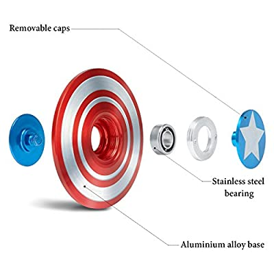 Gorilla Spinners - Ultra Durable Spinner Fidget Toy Shield with High Speed Bearing in Premium Metal Gift Box, EDC for Kids & Adults, 1-5 min of Spin Time by Gorilla Spinners