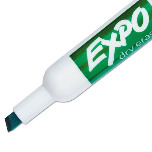Expo 80004 Low Odor Dry Erase Markers, Chisel Tip, Green Color, 2 Sets with 12 Markers, Total of 24 Markers by Expo (Image #3)