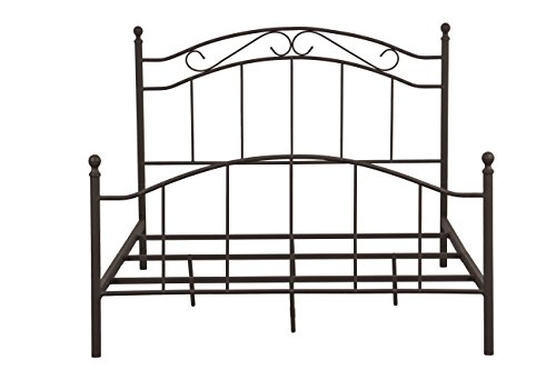 - Pulaski Queen Brown Scroll Patterned All-in-One Metal Bed