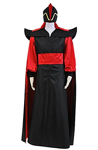 Aladdin Jafar Costume (Aladdin Jafar Villain Cosplay Costume Halloween Uniform Outfit Large)