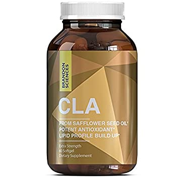 CLA Diet Pills Weight Loss Supplement for Men Women – Natural Metabolism Booster Appetite Suppressant Fat Burner – Pure Conjugated Linoleic Acid Capsules from Safflower Seed Oil – Brandon Sciences