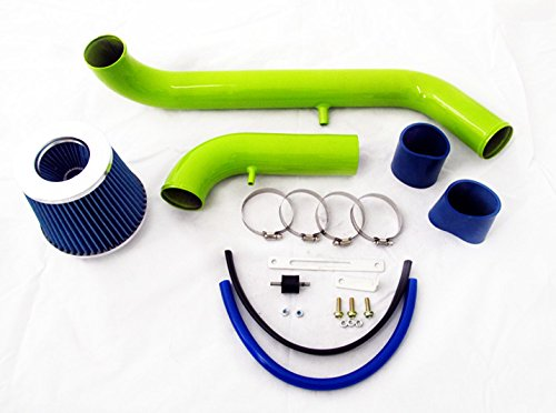95 96 97 98 99 Mitsubishi Eclipse 2.0 L4 N/A GREEN Piping Cold Air Intake System Kit with Blue Filter