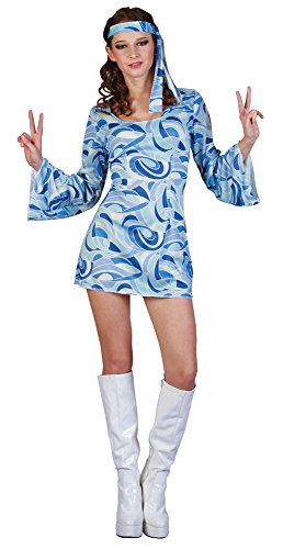 Bristol Novelty AC407 Flower Power Hippie Girl Costume, UK 10-14 ()
