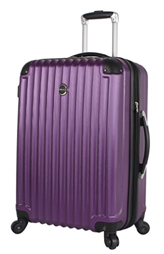 Lucas Outlander Large Hard Case 28 inch Expandable Rolling Suitcase With Spinner Wheels (One Size, Purple)