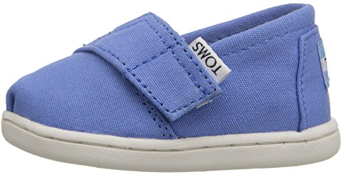 Toms Classic Blu Bianco Espadrillas Tiny Velcro Scarpe