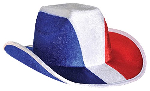 [Hat Cowboy Red White And Blue] (Child Red Cowboy Hat)
