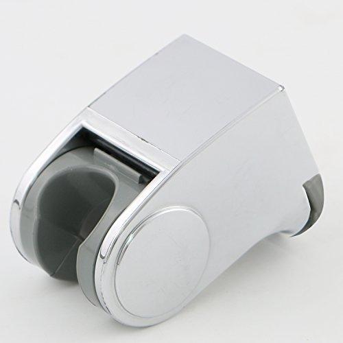 free shipping Deliao Universal Bathroom Adjustable Handheld Shower Head Bracket & Holder Wall Mount Showering Components Bidet Shattaf Spray Shower Arms Slide Bars Adhesive Fixed Showerheads Chrome Finish