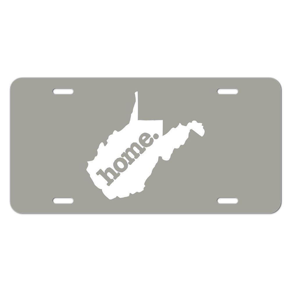 Solid Dark Grey Gray Graphics and More West Virginia WV Home State Novelty Metal Vanity License Tag Plate