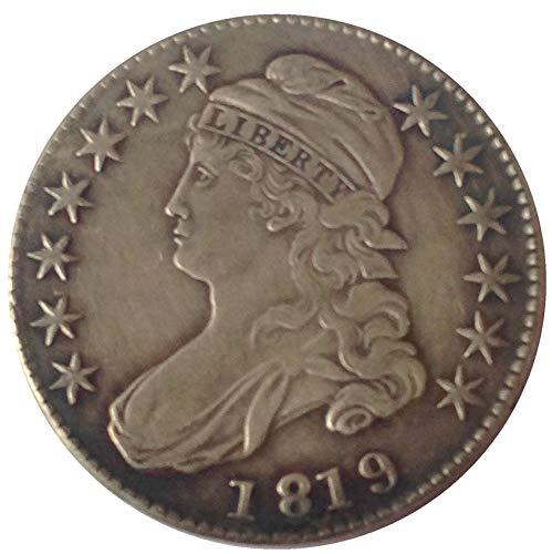 xingtingyu 1819 USA Capped Bust Half Dollars Coins Copy