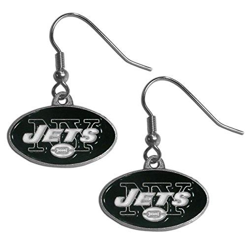 Jets Football Charm - Siskiyou Gifts Co, Inc. NFL New York Jets Dangle Earrings