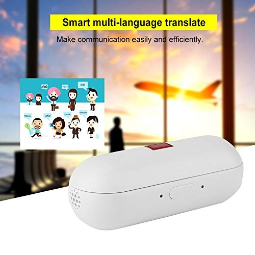 Translator Earbuds with Gift Charging Box,2 in 1 Bluetooth Headphone/ Real Time Wireless Language Translator Earphone Device Voice Translation Support 19 Languages Dual Mic & Noise Reduction(White) by fosa (Image #3)